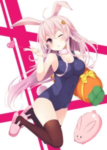 Rating: Safe Score: 58 Tags: animal_ears bunny_ears cleavage note_(aoiro_clip) school_swimsuit swimsuits tail thighhighs User: Mr_GT