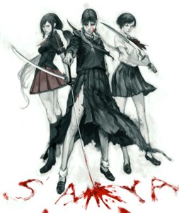 Rating: Questionable Score: 12 Tags: blood blood+ blood-c blood_the_last_vampire ikeda_masateru kisaragi_saya otonashi_saya saya_(blood_the_last_vampire) seifuku sword User: animeprincess