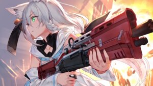 Rating: Safe Score: 41 Tags: animal_ears gun hololive izumi_sai shirakami_fubuki User: Mr_GT