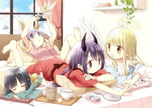 Rating: Safe Score: 23 Tags: angel animal_ears aoki_ume bunny_ears fairy horns tagme wings yukata User: Twinsenzw