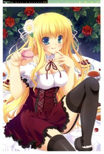 Rating: Questionable Score: 52 Tags: cleavage cream girl's_avenue narumi_yuu stockings thighhighs User: Jigsy
