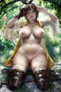 Rating: Explicit Score: 113 Tags: atelier atelier_ryza bottomless breasts nipples no_bra open_shirt pussy reisalin_stout sakimichan thighhighs uncensored weapon User: BattlequeenYume