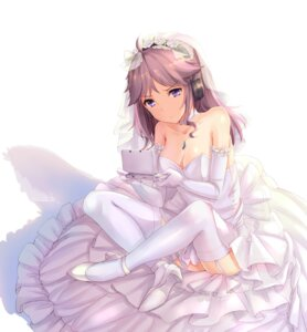 Rating: Safe Score: 80 Tags: cleavage dress headphones heels stockings thighhighs tirpitz wedding_dress yuemanhuaikong zhanjianshaonv User: Mr_GT