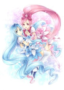 Rating: Safe Score: 21 Tags: hagiwara_rin hanasaki_tsubomi heartcatch_pretty_cure! kurumi_erika pretty_cure thighhighs User: blooregardo