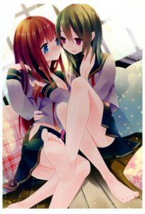 Rating: Questionable Score: 37 Tags: cleavage feet open_shirt seifuku tagme yuri User: fireattack