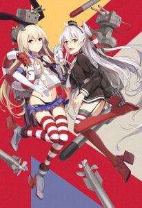 Rating: Safe Score: 50 Tags: amatsukaze_(kancolle) kantai_collection neko_(yanshoujie) pantsu rensouhou-chan shimakaze_(kancolle) stockings thighhighs User: Radioactive