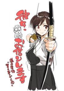 Rating: Safe Score: 16 Tags: armor japanese_clothes kanojo_okarishimasu miyajima_reiji mizuhara_chizuru sketch weapon User: megurimareta