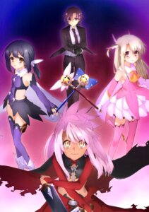 Rating: Safe Score: 26 Tags: bazett_fraga_mcremitz fate/kaleid_liner_prisma_illya fate/stay_night illyasviel_von_einzbern kuroe_von_einzbern miyu_edelfelt sword thighhighs weapon User: drop