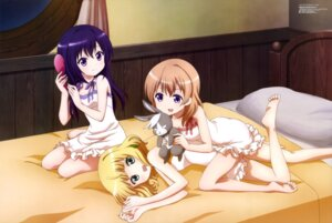 Rating: Safe Score: 80 Tags: dress feet gochuumon_wa_usagi_desu_ka? hoto_cocoa kirima_sharo ozaki_masayuki pajama tedeza_rize wild_geese User: drop