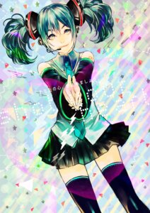 Rating: Safe Score: 7 Tags: hatsune_miku headphones pantsu_moriko thighhighs vocaloid User: charunetra