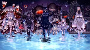 Rating: Safe Score: 38 Tags: battleship_water_oni cleavage dress erect_nipples garter horns isolated_island_hime kantai_collection kareha_(sakura-turibito) midway_hime northern_ocean_hime seaport_hime thighhighs User: Mr_GT