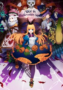 Rating: Safe Score: 43 Tags: alice alice_in_wonderland animal_ears bunny_ears dress halloween mad_hatter megane ycco_(estrella) User: Mr_GT