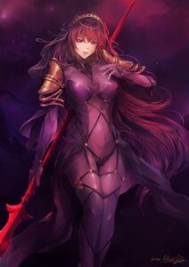 Rating: Safe Score: 26 Tags: armor bodysuit fate/grand_order hiroki_ree scathach_(fate/grand_order) signed stockings thighhighs weapon User: mash