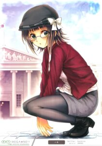 Rating: Questionable Score: 32 Tags: amami_haruka heels megane pantyhose the_idolm@ster yakusa User: Radioactive