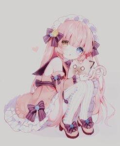 Rating: Safe Score: 29 Tags: dress girl_cafe_gun_ii heels heterochromia lolita_fashion mullay neko sketch skirt_lift thighhighs User: KazukiNanako