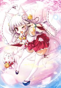 Rating: Questionable Score: 62 Tags: animal_ears bekkankou kitsune miko tail thighhighs User: Twinsenzw