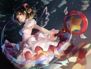 Rating: Safe Score: 48 Tags: card_captor_sakura dress garter kinomoto_sakura rokku thighhighs weapon wings User: Mr_GT