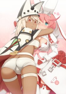 Rating: Questionable Score: 47 Tags: ass cleavage elphelt_valentine guilty_gear ramlethal_valentine stockings symmetrical_docking tachimi_(basue) thighhighs underboob User: Zenex