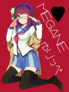 Rating: Safe Score: 21 Tags: angel_beats! kippu megane seifuku thighhighs yurippe User: Radioactive