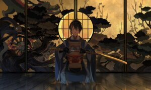 Rating: Safe Score: 17 Tags: asian_clothes male mikazuki_munechika sword touken_ranbu ye_huo User: blooregardo