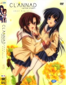 Rating: Safe Score: 19 Tags: clannad clannad_after_story disc_cover nishina_rie seifuku sugisaka thighhighs User: Aurelia