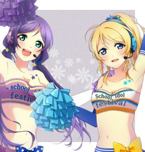 Rating: Safe Score: 34 Tags: ayase_eli cheerleader kosato★彡 love_live! toujou_nozomi User: TT1234