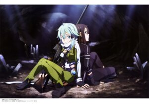 Rating: Safe Score: 26 Tags: cleavage gun gun_gale_online kawatsuma_tomomi kirito sinon sword_art_online User: drop