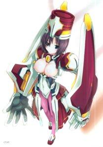 Rating: Questionable Score: 31 Tags: bodysuit breasts kotonosha kyoukai_senjou_no_horizon mutsumi_masato nipples scanning_artifacts tachibana_gin User: 椎名深夏