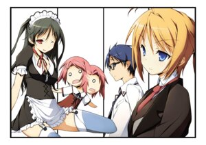 Rating: Safe Score: 19 Tags: kikuchi_seiji konoe_subaru maid mayo_chiki! sakamachi_kinjirou sakamachi_kureha stockings suzutsuki_kanade thighhighs User: Radioactive