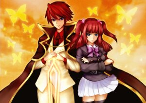 Rating: Safe Score: 9 Tags: greave seifuku umineko_no_naku_koro_ni ushiromiya_ange ushiromiya_battler User: 洛井夏石