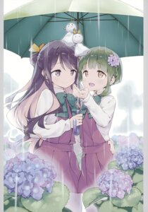 Rating: Safe Score: 39 Tags: akutoku_doumei gayarou kantai_collection naganami_(kancolle) seifuku takanami_(kancolle) umbrella User: Hatsukoi