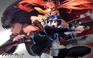 Rating: Safe Score: 31 Tags: aihara_enju black_bullet gun satomi_rentarou sword tendou_kisara yang-do User: Radioactive