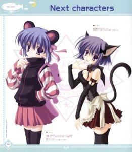 Rating: Safe Score: 20 Tags: animal_ears cleavage ice_&_choco nanao_naru nekomimi tail thighhighs User: WtfCakes