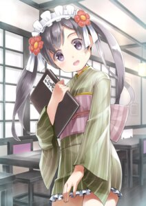 Rating: Safe Score: 34 Tags: maid rin2008 wa_maid yukata User: Mr_GT