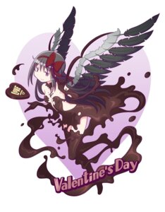 Rating: Questionable Score: 19 Tags: akemi_homura cream gecchu naked puella_magi_madoka_magica valentine wings User: SubaruSumeragi