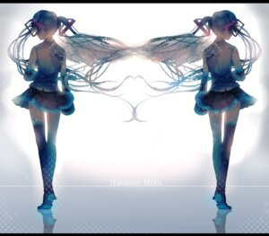 Rating: Safe Score: 56 Tags: hatsune_miku thighhighs ume_neko vocaloid wings User: LolitaJoy