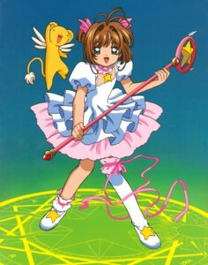 Rating: Safe Score: 2 Tags: card_captor_sakura dress garter kerberos kinomoto_sakura madhouse thighhighs weapon User: Omgix