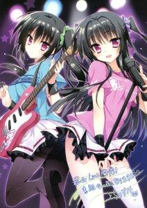 Rating: Safe Score: 105 Tags: autographed fujimaru_mikoto guitar heels kirishima_touri kisaragi_gold_star pantyhose saga_planets thighhighs toranosuke User: Twinsenzw