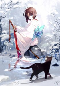 Rating: Safe Score: 27 Tags: kara_no_kyoukai kimono neko ryougi_shiki sword tagme User: BattlequeenYume