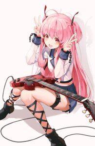 Rating: Safe Score: 19 Tags: angel_beats! garter guitar pro-p seifuku skirt_lift yui_(angel_beats!) User: Dreista