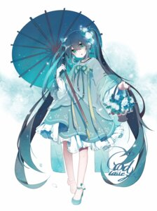 Rating: Safe Score: 28 Tags: asian_clothes godlailer hatsune_miku umbrella vocaloid User: sym455