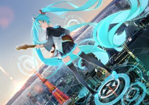 Rating: Safe Score: 56 Tags: beek guitar hatsune_miku thighhighs vocaloid User: lichtzhang