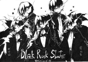 Rating: Safe Score: 12 Tags: black_rock_shooter hatsune_miku kagamine_len kagamine_rin kaito meiko monochrome vocaloid xxxsai User: Radioactive