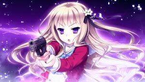 Rating: Safe Score: 40 Tags: akatsuki-works game_cg gun hello_lady saeki_hokuto seifuku takazaki_eru User: charunetra