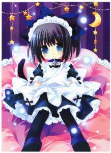 Rating: Safe Score: 61 Tags: animal_ears lolita_fashion maid nekomimi pantyhose sakurazawa_izumi wa_lolita User: demon2