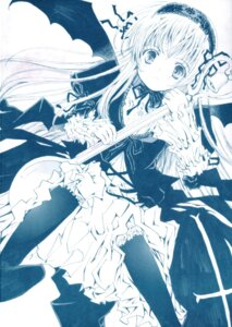 Rating: Safe Score: 6 Tags: gothic_lolita lolita_fashion monochrome rozen_maiden suigintou User: cheese
