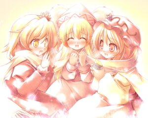 Rating: Safe Score: 11 Tags: aki_minoriko aki_shizuha kibushi lily_white touhou wings User: Radioactive