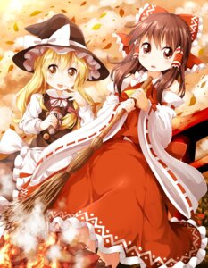 Rating: Safe Score: 23 Tags: dress hakurei_reimu kirisame_marisa miko touhou tsurukou witch User: 椎名深夏