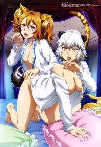 Rating: Questionable Score: 55 Tags: abe_jikou animal_ears bottomless cleavage dress_shirt killing_bites nakanishi_eruza no_bra open_shirt tail uzaki_hitomi watanabe_kazuo User: drop
