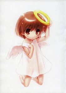 Rating: Questionable Score: 15 Tags: clannad clannad_after_story dress loli okazaki_ushio see_through wings zen User: kiyoe